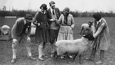 Lady Eve Balfour with friends
