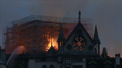 Notre-Dame on fire