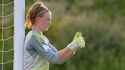 Northern Ireland goalkeeper Jacqueline Burns
