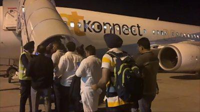 Passengers boarding last Jet Airways flight