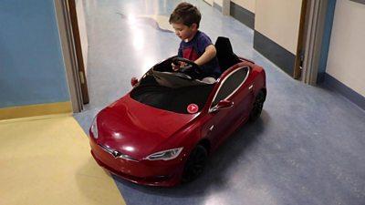 Mini Tesla at Great Western Hospital