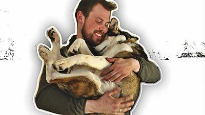 Audun and a dog
