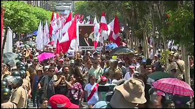 The funeral of former Peruvian President Alan Garcia