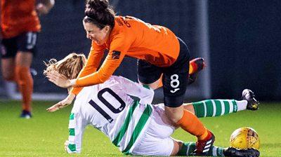 Kathleen McGovern of Celtic and Glasgow City's Leanne Crichton