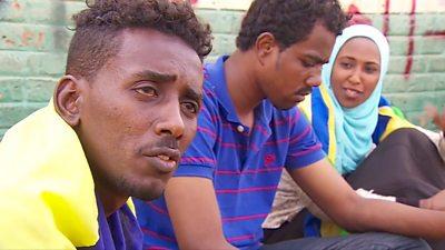 Protesters in Sudan