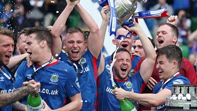 Linfield lift the Gibson Cup