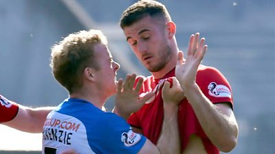 Three Kilmarnock red cards