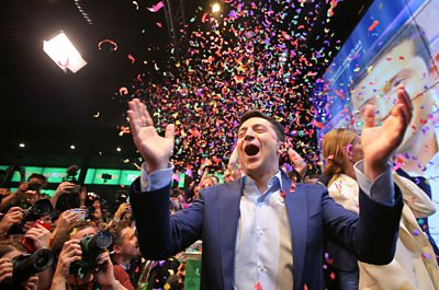 Volodymyr Zelensky wins election