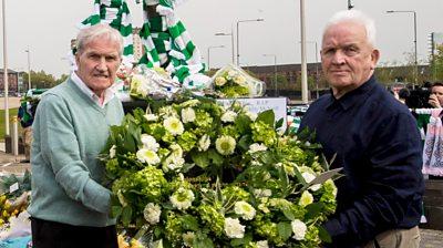 Bertie Auld and John Clark