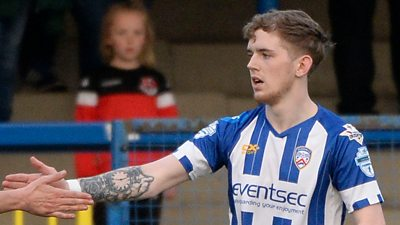 Three for McGonigle as Coleraine beat Crusaders