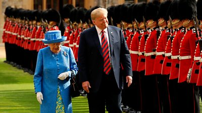 The Queen and US President Donald Trump