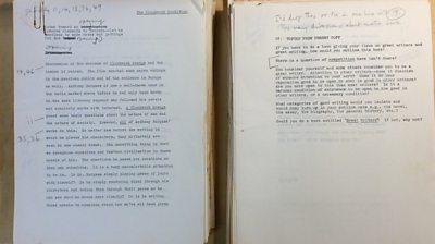 Burgess manuscript