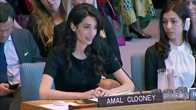 Amal Clooney at United Nations