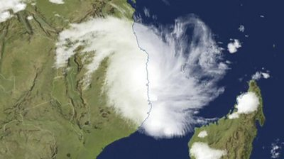 Cyclone Kenneth makes landfall in Mozambique