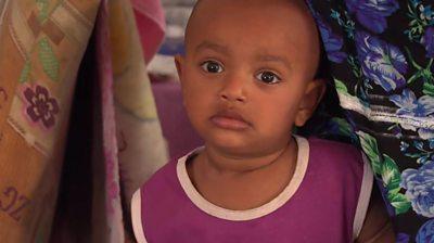 Toddler in Libya