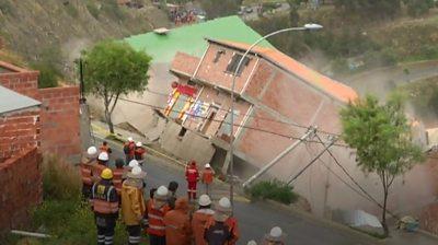 La Paz landslide destroys homes in Bolivia's capital