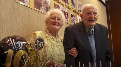 Nellie Graham celebrates her 100th birthday on Thursday, months after her husband Joseph.