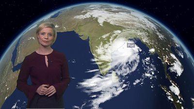 Sarah Keith-Lucas with satellite image