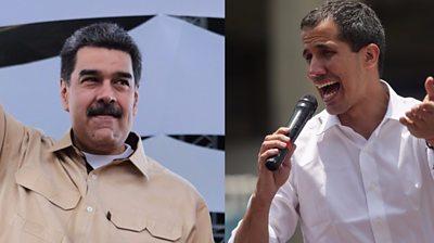 Nicolás Maduro and Juan Guaidó