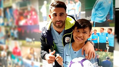 Rizky met his football hero