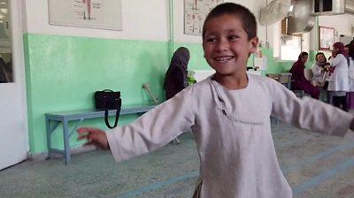 Dancing boy in Afghanistan