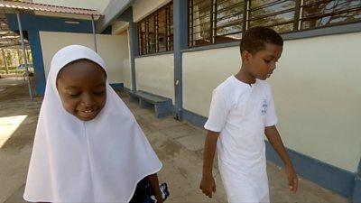 Nadia and a school friend