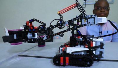 A robot grabber coded by a Nigerian boy