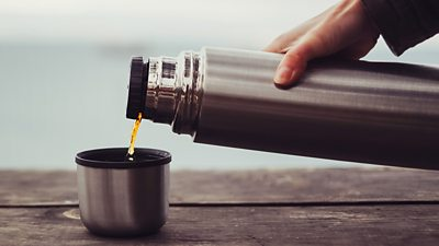 A vacuum flask