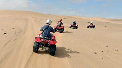 quad bike riders in Namibia