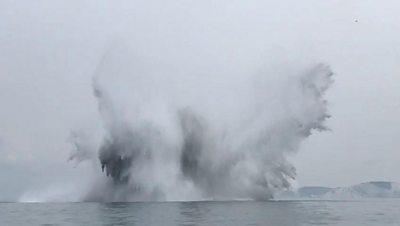 WW2 sea mine destroyed