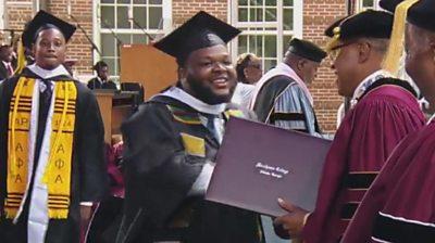 Dwytt Lewis graduating