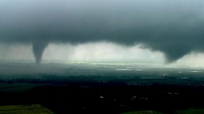 'Twin tornadoes' in Oklahoma