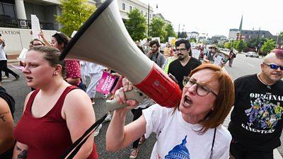 Protester in Alabama
