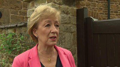 Andrea Leadsom speaking in Sky pool clip