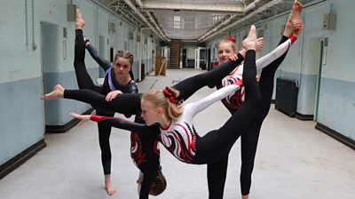 Shepton Mallet Gymnastics Club is training in the town's former prison
