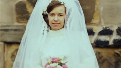 Irene Cunningham on her wedding day