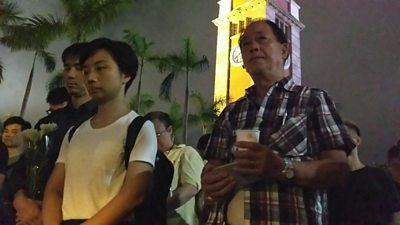 Tiananmen Square vigil in Hong Kong