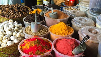 Spices in a Mombasa market