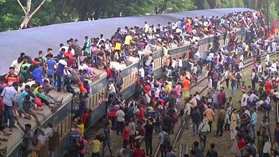 Bangladesh train station