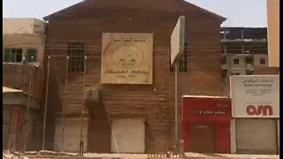 Empty streets in Khartoum