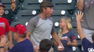 An Atlanta Braves fan