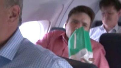 Student on flight