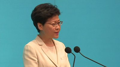 Hong Kong's leader Carrie Lam