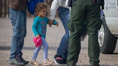 Child migrant in Sunland Park, New Mexico