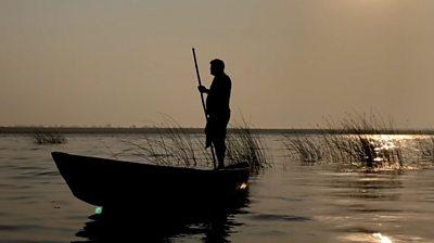 A boatman on the Godavari river