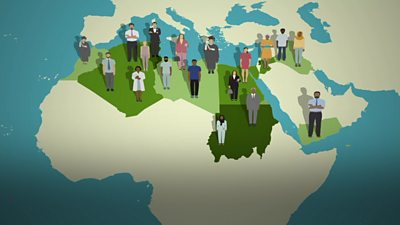 A graphic for the BBC Arabic survey