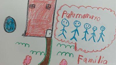 Child's drawing at US border facility