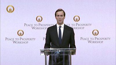 White House adviser Jared Kushner speaks in Bahrain
