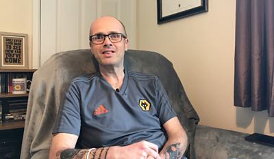 Author and football fan Simon Rickards