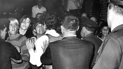 Members of the LGBT community fought against a police raid at the Stonewall Inn 50 years ago.